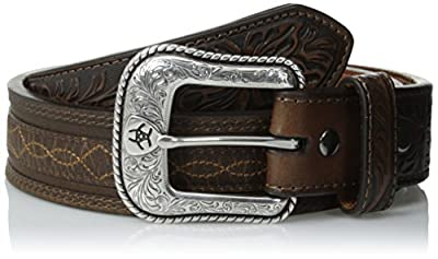 Ariat Men's Stitch Design Overlay Belt