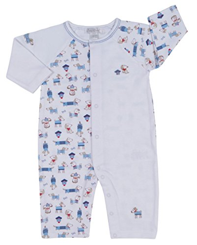 - Kissy Kissy Baby-Boys Infant Cozy Pups Print Playsuit-Multicolored-6-9 Months