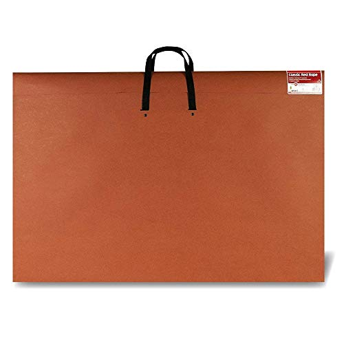Star Products Art Portfolio 24 X 36, Classic Red Rope, Paper Artist Portfolio with Soft Woven Handle – Poster Storage, Art Storage by Star Products