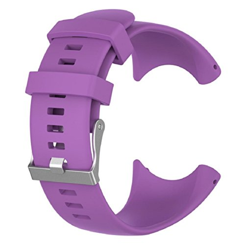 Band For Suunto Core Watch, Vovomay Silicone Replacement Band Smart Watch Fitness Strap For Suunto Core (A3-Purple color)