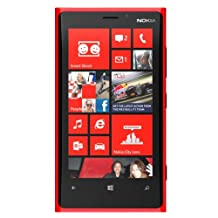 NOKIA LUMIA 920 32GB RED FACTORY UNLOCKED GSM 4G 3G 2G OEM NEW (2G & 3G HSDPA 850/900/2100 & 4G LTE 800/900/1800/2100/2600)