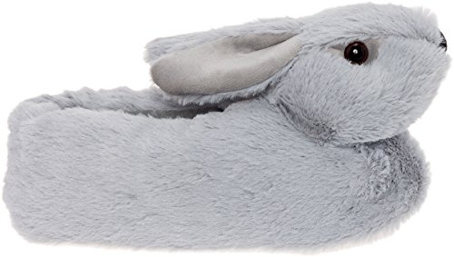 by Classic Plush Lilly Silver Grey Slippers Bunny Animal Slippers wzHgFq