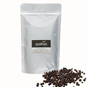 BIO-Pfefferkörner schwarz (ganz) Pfeffermühlen geeignet - 250g von Azafran®