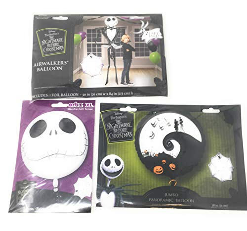Nightmare Before Christmas Giant Three Balloon Bundle: Seven