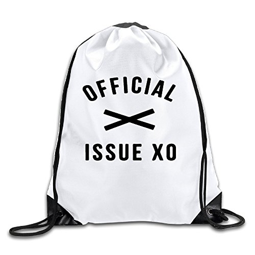 BYDHX Official Issue XO Logo Drawstring Backpack Bag White