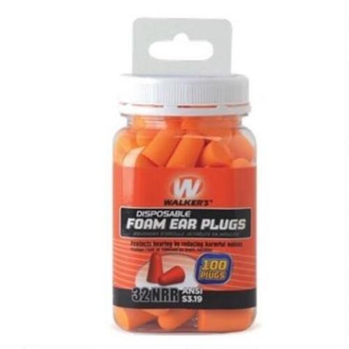 Walker's Foam Ear Plug Jar (100 Count), Orange by Walker's Game Ear