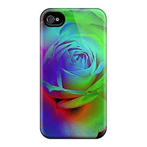 Hot New Bright Roses Case Cover For Iphone 4/4s With Perfect Design