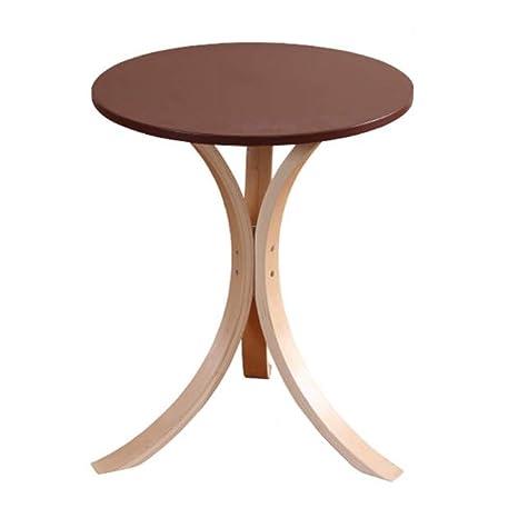 Amazon.com: Mesa auxiliar redonda de madera para mesita de ...