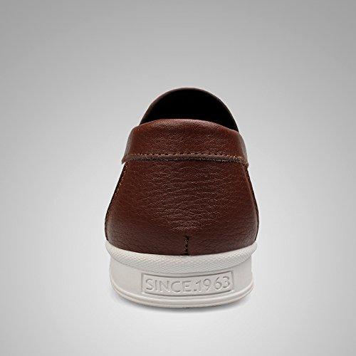 Salabobo Fjqy-15001 Nouveaux Hommes Mocassins En Cuir Occasionnels Slip-on Smart Chaussures De Conduite Marron