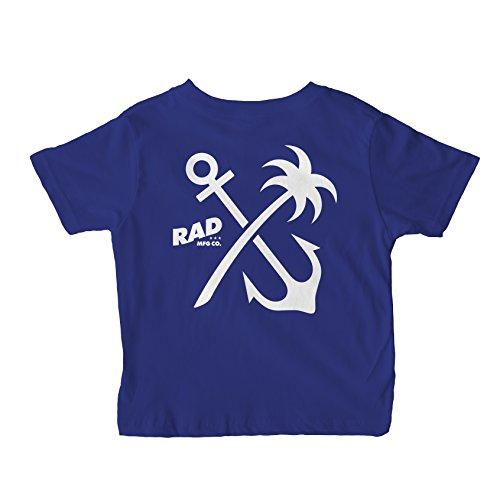 RAD MFG Co. Baby Anchor Palm Toddler Fine Jersey Tee 4T Cobalt