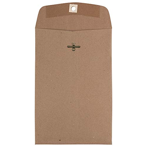 JAM PAPER 6 x 9 Premium Invitation Envelopes with Clasp Closure - Brown Kraft Paper Bag - - Envelopes Mailing Recycled