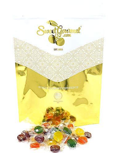 Eda's Sugar Free Sour Mix Hard Candy - Sour Cherry, Sour Orange, Sour Green Apple, Sour Lemon - Kosher, Sorbitol, Low Sodium, No Aftertaste 4 pounds (Orange Banana Pineapple)