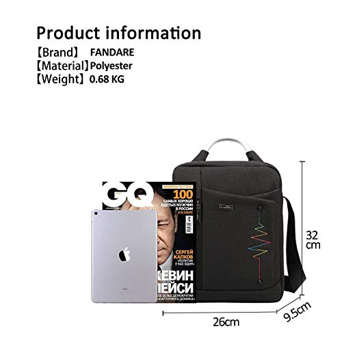 Purple Polyester Square Bag Business Waterproof color Men Red Student Multifunction Black Messenger Portable Travel New Shoulder Size Handbag 7Rtqwx5n