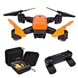 le-idea IDEA7 Drone Foldable GPS 720P WIFI FPV with Auto Return Auto Hover Follow Me Mode RC Drone Live Video Camera and GPS Drone Map Location and Waypoint Setting Orange Color