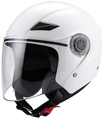Jethelm Helm Motorradhelm RALLOX 702 weiß mit Langvisier Größe M