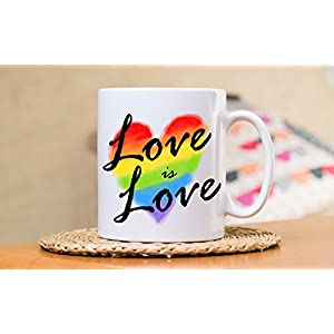 Love is Love, Gay Wedding Gift, Shower, Same Sex, Lesbian, LGBT, LGBTQ, Two Men,Women, Married, Gay Wedding Gift, Two Brides, Coffee Mug