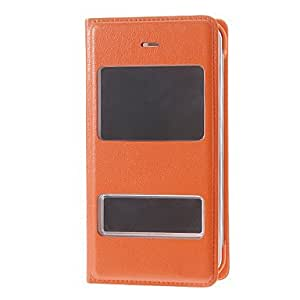 SJT Solid Color PU Leather Smart Full Body Case for iPhone 4/4S(Assorted Color) , Black