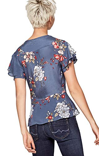Multicolor Blusa Jeans Pepe Mujer Estampada Ange TZHMSxoqgw