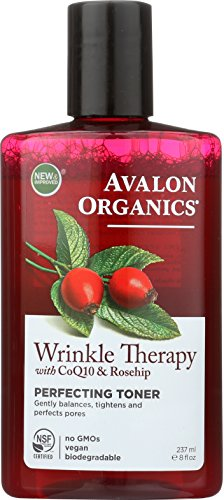 Avalon Organics Wrinkle Therapy with CoQ10 & Rosehip Perfecting Toner 8 oz (Pack of ()