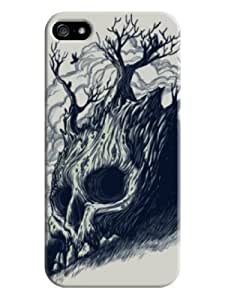 Hot New Design Tree so Like Skull Tpu Cute Cover Cases for Iphone 5/5s (Beige)
