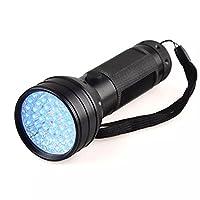 51 LED UV Flashlight 395 nM Ultraviolet Blacklight Aluminum Torch Light Lamp