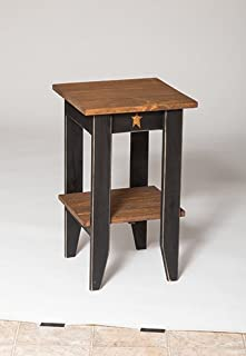 product image for Furniture Barn USA Primitive Rustic Country Style Square End Table- Golden Oak Stain