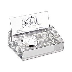 Badash Crystal Clock Cardholder