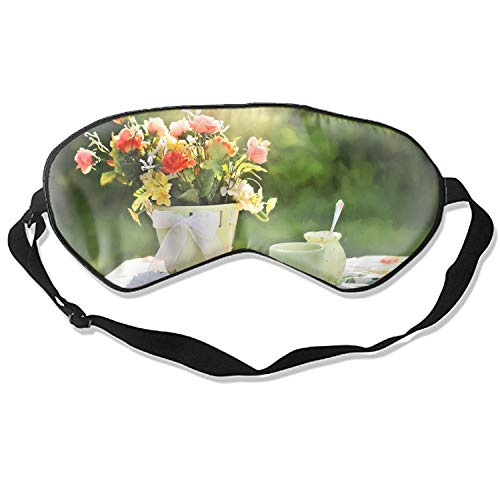 Sleep Mask Reusable Cold Improves Sleep Edema Eye Tiredness - Flowers Vase Tableware Lime