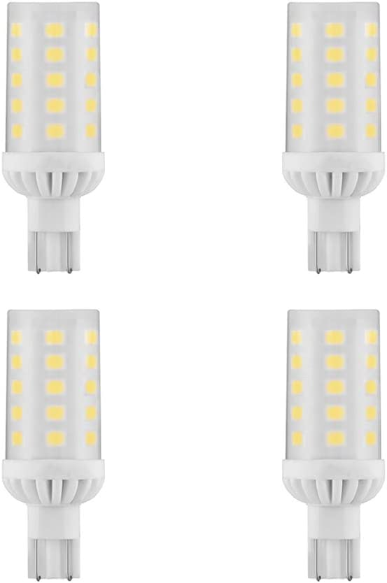 Makergroup T5 T10 Wedge Base 921 912 12V LED Light Bulbs 4W Warm White 2700-3000K for RV Camper Travel Tailer Boat Marine Lights and Outdoor Landscape Deck Stair Step Path Lights 6-Pack