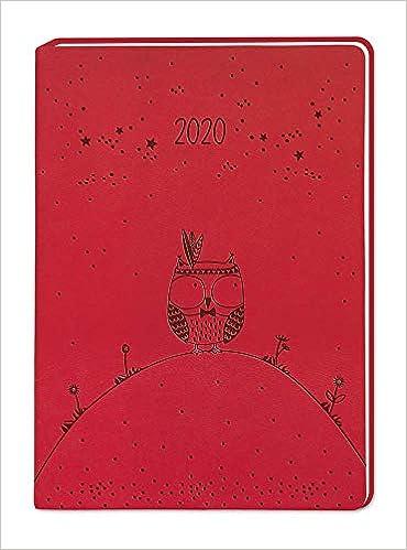 Terminplaner Lederlook A6 Pink 2020