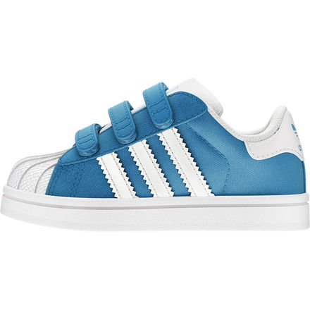 adidas Originals Kids Unisex Superstar 2 (Infant/Toddler) Solar Blue/White 8.5 Toddler M