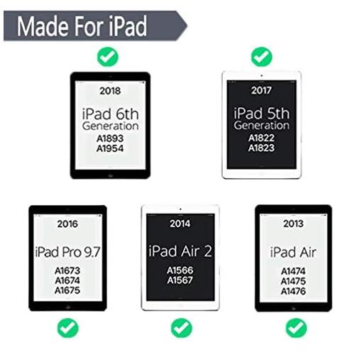 iPad Keyboard Case for iPad 9.7 Inch 2018 (6th Gen)/iPad 9.7 Inch 2017 (5th Gen)/iPad Pro 9.7 Inch/iPad Air 2/iPad Air 1, Ultra-Slim iPad Cover with Magnetically Detachable Wireless Keyboard – Blue