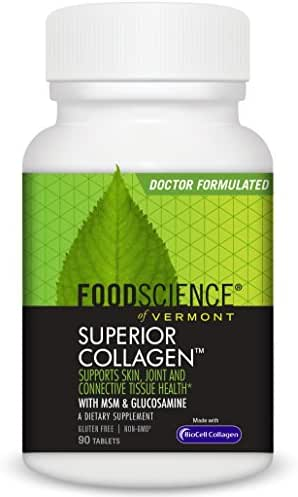 FoodScience of Vermont, Superior Collagen. Skin, Joint and Connective Tissue Support, 90 Tablets