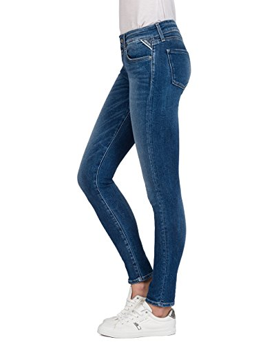 Denim Mujer Blue Skinny Replay Azul Vaqueros mid Raissa 9 Para 4Tfx8Hq