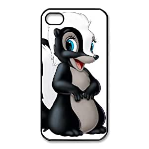 iphone4 4s Phone Case Black Bambi Flower ES3TY7833841