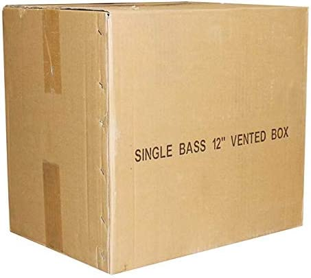 "Q-Power QSBASS12 Single 12/"" Vented Slot Ported Empty Subwoofer Sub Enclosure Box"