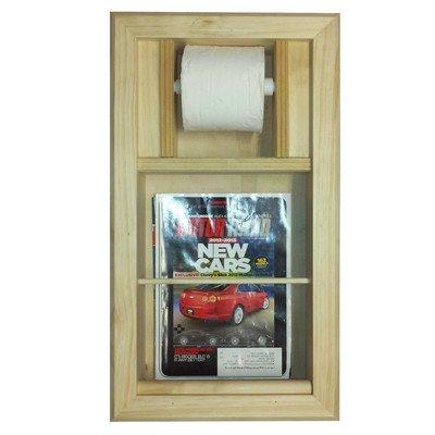 Butler Tissue Holder - Recessed Magazine Rack and Toilet Paper Holder Combo