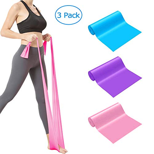 SUNVITO Resistance Bands, Elastic Exercise Bands for Legs, Exercise Bands for Strength Training Yoga Pilates Stretching (3 Pack)