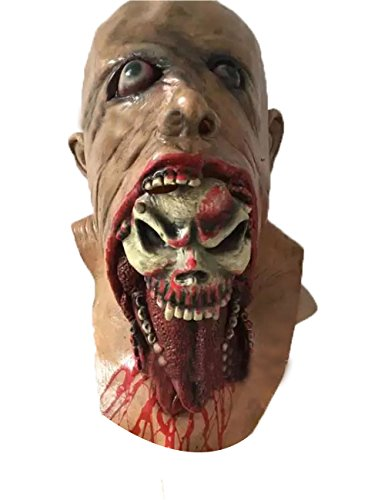 Scary Zombie Mask (Zombie Mask Melting Face Halloween Scary Head Masks (FREE SIZE))
