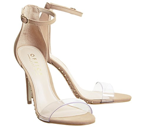 Office Clear Studded Horoscope Nude Sandals Strap ZHZfTwq