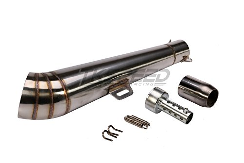 PACEWALKER Universal Stainelss Steel GP 38-51mm Slip-On Type Exhaust Muffler Pipe & Removable DB Killer for 125-1000CC Motorcycle & Scooter by PACEWALKER (Image #1)