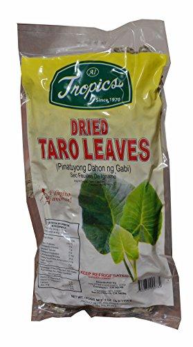 Tropics Dried Taro Leaves(Pinatuyong Dahon ng Gabi) 4oz. (Pack of 1)