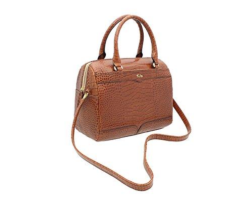 La Venta En Línea De Moda Tula EVERGLADE Collezione Croc Leather Stampa Barrel Bag 8088 Tan Tenné Venta Tienda Online bxwg0J4D