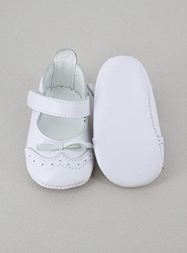 Innenschuh Leder weiß Baby Mädchen für Taufe oder Zeremonie–Produkt Gespeichert und verschickt Schnell seit Frankreich Weiß