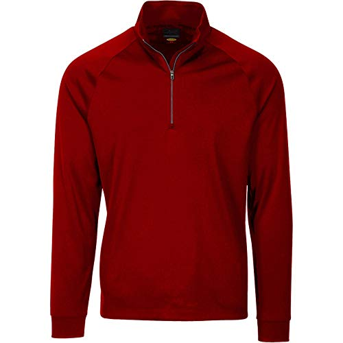 Greg Norman Men's Long Sleeve 1/4-Zip Mock, British Red, X-Large ()