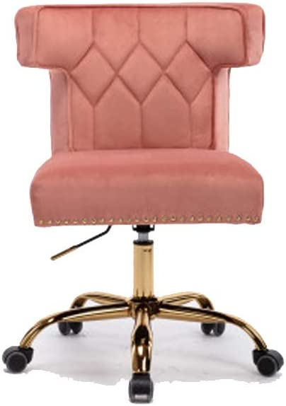 Swivel Wingback Chair for Living Room/Bed Room, Modern Leisure Office Chair Pink