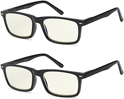 Blue Light Blocking Computer Gaming Glasses 2 Pack