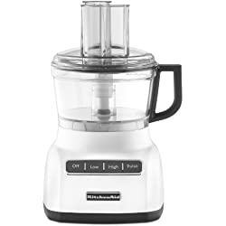 KitchenAid KFP0711WH 7 Cup Food Processor, White