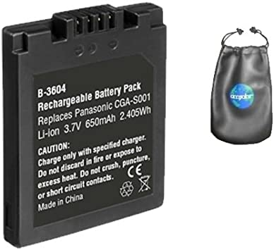 Amazon Com Digital Replacement Camera And Camcorder Battery For Panasonic Cga S001 Cga S001e Includes Lens Pouch Digital Camera Batteries Camera Photo