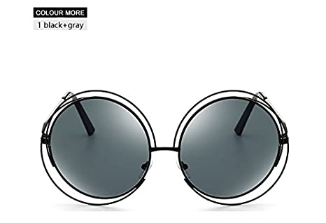 85f0ad4bb BranXin(TM) Fashion Vintage Oversized Round Sunglasses Women Mirror Brand  Design Steampunk Sun Glasses